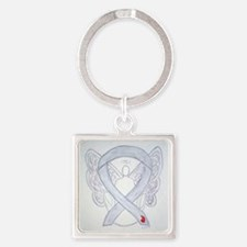 Diabetes Awareness Ribbon Angel Keychains