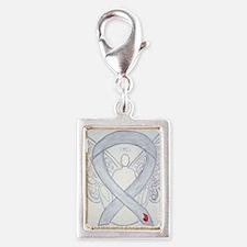 Diabetes Awareness Ribbon Angel Charms