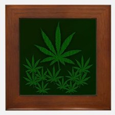Marijuana / Weed Design Framed Tile