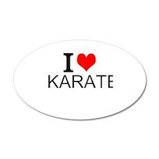 I Love Karate Wall Decal