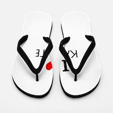 I Love Karate Flip Flops