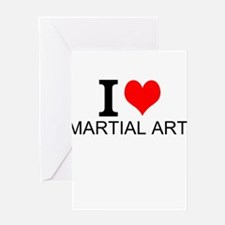 I Love Martial Arts Greeting Cards