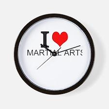 I Love Martial Arts Wall Clock