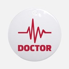 Doctor red frequency Ornament (Round)