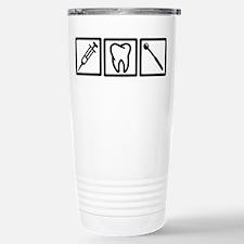 Dentist icons symbols Travel Mug