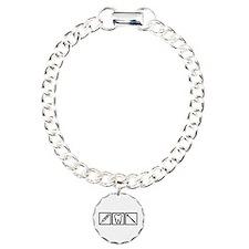 Dentist icons symbols Charm Bracelet, One Charm
