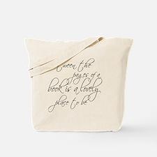 Lovely Book Reader Tote Bag
