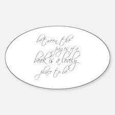 Lovely Book Reader Sticker (Oval)