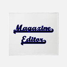 Magazine Editor Classic Job Design Throw Blanket