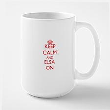 Keep Calm and Elsa ON Mugs