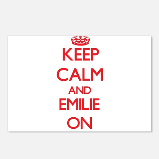 Keep Calm and Emilie ON Postcards (Package of 8)