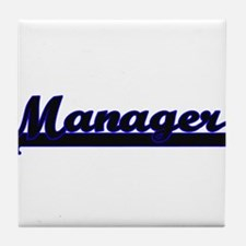 Manager Classic Job Design Tile Coaster