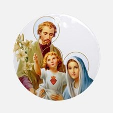 The Holy Family (Style 2) Ornament (Round)