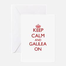 Keep Calm and Galilea ON Greeting Cards