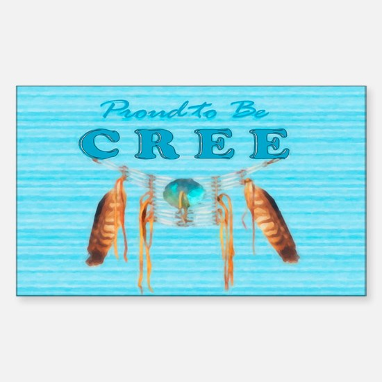 Proud to be Cree Sticker (Rectangle)