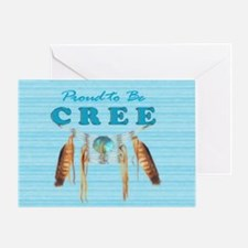 Proud To Be Cree Card Greeting Cards