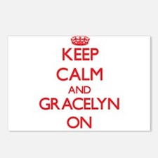 Keep Calm and Gracelyn ON Postcards (Package of 8)