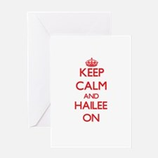 Keep Calm and Hailee ON Greeting Cards