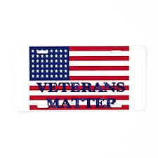 VETERANS MATTER Aluminum License Plate