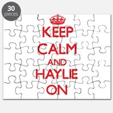 Keep Calm and Haylie ON Puzzle