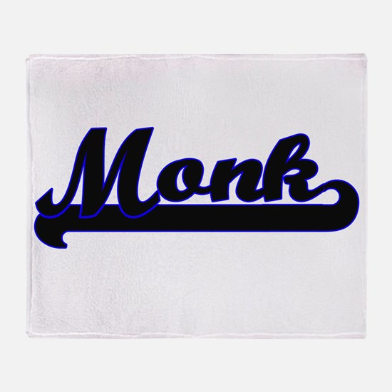 Monk Classic Job Design Throw Blanket
