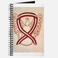 Burgundy and Ivory Awareness Ribbon Journal