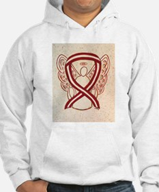 Burgundy and Ivory Awareness Ribbon Hoodie