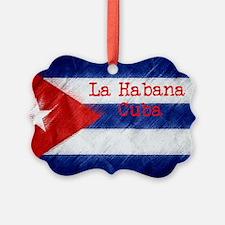 La Habana Cuba Flag Ornament