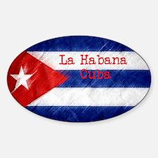 La Habana Cuba Flag Sticker (Oval)