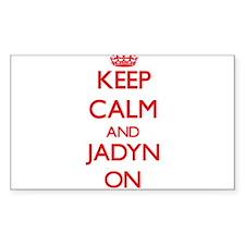 Keep Calm and Jadyn ON Decal