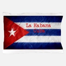 La Habana Cuba Flag Pillow Case