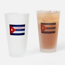 La Habana Cuba Flag Drinking Glass