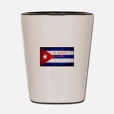 La Habana Cuba Flag Shot Glass
