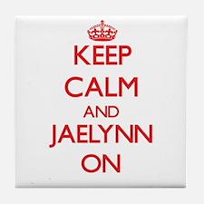 Keep Calm and Jaelynn ON Tile Coaster
