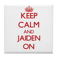 Keep Calm and Jaiden ON Tile Coaster
