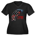 Got Treats Women's Plus Size V-Neck Dark T-Shirt