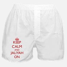 Keep Calm and Jaliyah ON Boxer Shorts