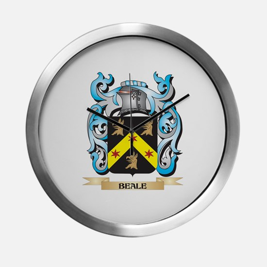 Beale Coat of Arms - Family Cres Modern Wall Clock