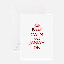 Keep Calm and Janiah ON Greeting Cards
