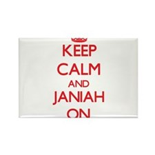 Keep Calm and Janiah ON Magnets