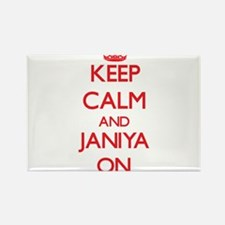 Keep Calm and Janiya ON Magnets