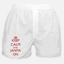 Keep Calm and Janiya ON Boxer Shorts
