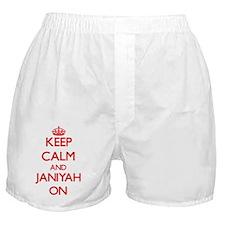 Keep Calm and Janiyah ON Boxer Shorts