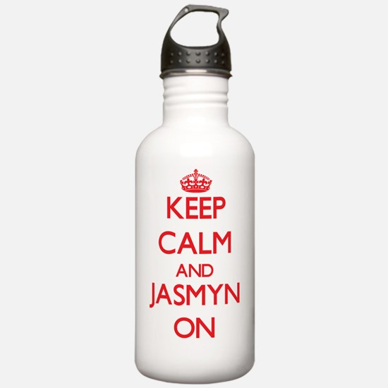 Keep Calm and Jasmyn O Water Bottle