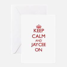 Keep Calm and Jaycee ON Greeting Cards