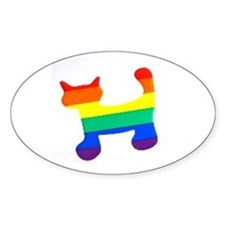 Unique Rainbows are gay Decal