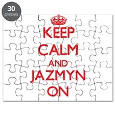 Keep Calm and Jazmyn ON Puzzle