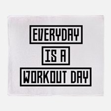 Workout Day fitness C2y22 Throw Blanket