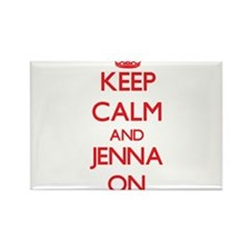 Keep Calm and Jenna ON Magnets