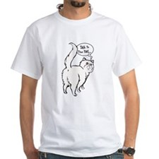White Persian Tail Talk Shirt